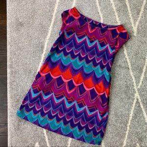 Gap Kids purple and teal corduroy Dress XS (4-5)